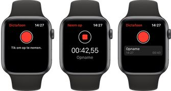 Apple Watch watchos 6 dictafoon