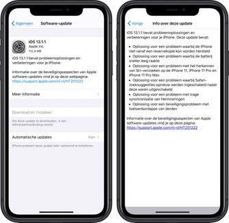 iOS 13.1.1 iPhone