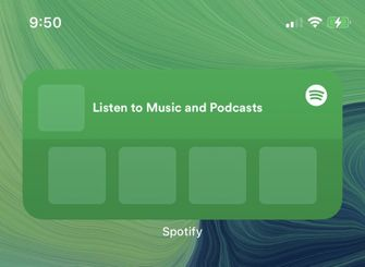 Spotify Widget iOS 14