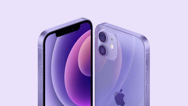 iPhone 12 in het paars