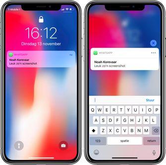 Haptic Touch iPhone XR notificatie