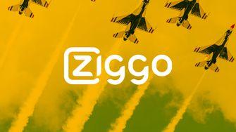 Ziggo logo met vliegtuigen