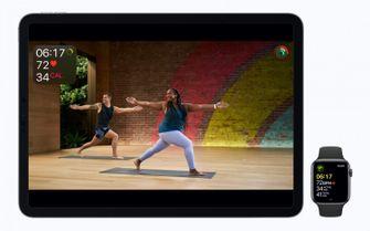 Apple Fitness+ op een iPad