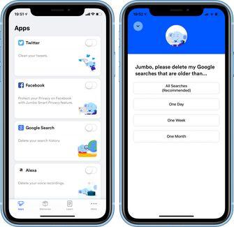 Jumbo privacy app