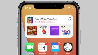 ios 14 muziek-app widget