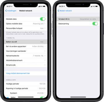 T-Mobile bellen via 4G wifi iphone