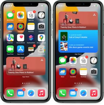iOS 15 app store widget