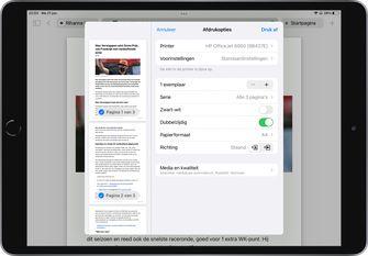 iOS 15 en iPadOS 15 nieuwe opties voor afdrukken screenshot 1