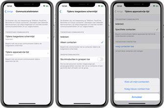 iOS 13.3 communicatielimieten 001