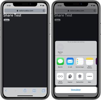 iOS 12.2 web-apps share